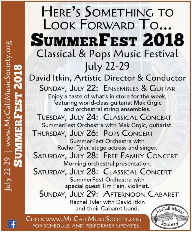 SummerFest 2018 Web Graphic
